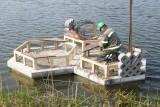 Pierwsza w Polsce betonowa wyspa dla ptaków zwodowana w kopalni Nowogród Bobrzański