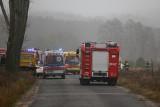 Wypadek w Gogolinku (powiat bydgoski). Seat dachował, kierowca trafił do szpitala