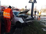 Wypadek na Retkini w Łodzi! Opel wykoleił tramwaj. Kierująca nie ustąpiła pierwszeństwa pojazdowi MPK. ZDJĘCIA