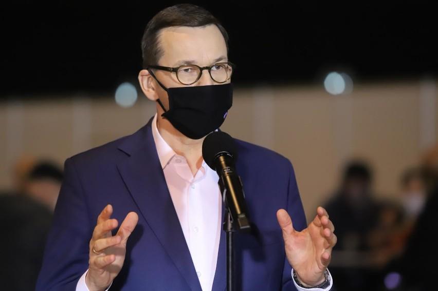 18.02.2021 katowice mck premier mateusz morawiecki w punkcie...