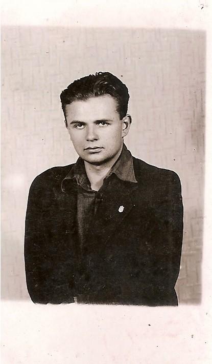 Jerzy Kłoczowski w styczniu 1945 roku