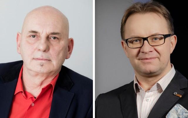 """Tomasz Pietraszak (po prawej) po przyjściu do """"Expressu"""" objął funkcję zastępcy redaktora naczelnego ds. multimediów. Artur Szczepański stanowisko redaktora naczelnego zajmował 20 lat."""