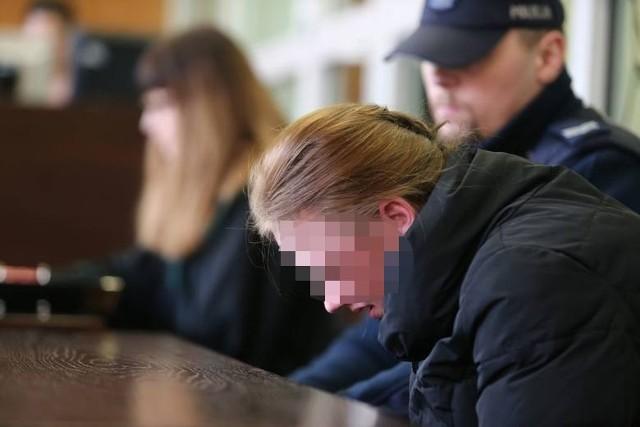 Marta S. podczas pierwszej rozprawy