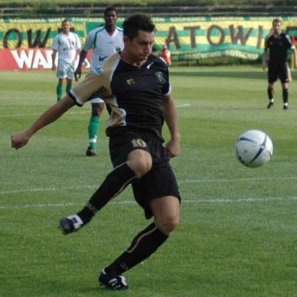 W akcji strzelec pierwszego gola, Sebastian Gielza.