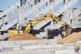 Budowa stadionu Radomiaka. Prace zostały wznowione (NOWE ZDJĘCIA)