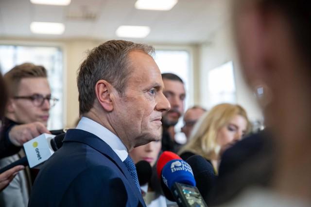 Donald Tusk/fot. wojciech wojtkielewicz/kurier poranny/gazeta wspolczesna/polska press