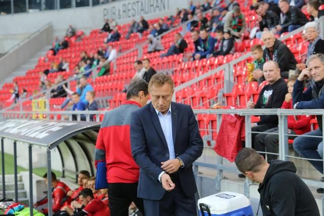 Trener GKS-u Tychy Ryszard Tarasiewicz.