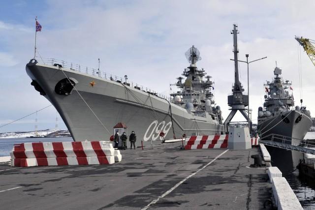 Rosyjski krążownik rakietowy Piotr Wielki