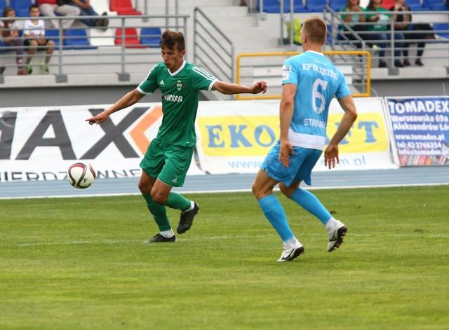 17 minuta meczu. Paweł Wolski strzelił fantastycznego gola dla Radomiaka Radom w meczu z Błękitnymi Stargard Szczeciński.