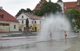 Upały w Białymstoku. Kurtyny wodne pojawiły się w centrum