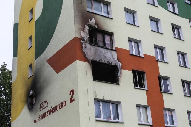 Po pożarze przy ul. Starzyńskiego w Koszalinie