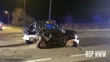 Wypadek na DK25 w miejscowości Januszkowo - gmina Nowa Wieś Wielka)
