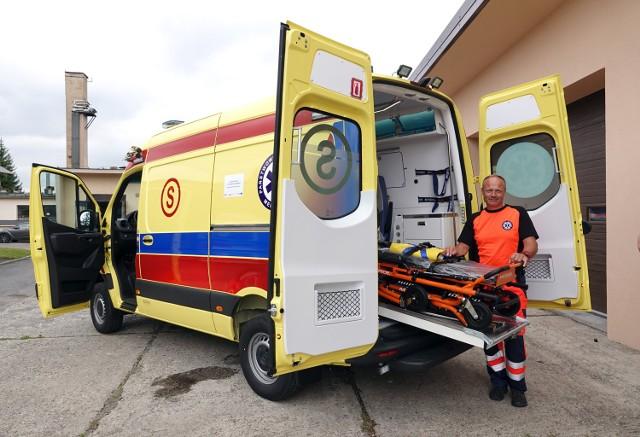 Nowy ambulans kosztował 500 tys. zł. Większość tej kwoty (442 tys. zł )pochodziła z  Funduszy Europejskich