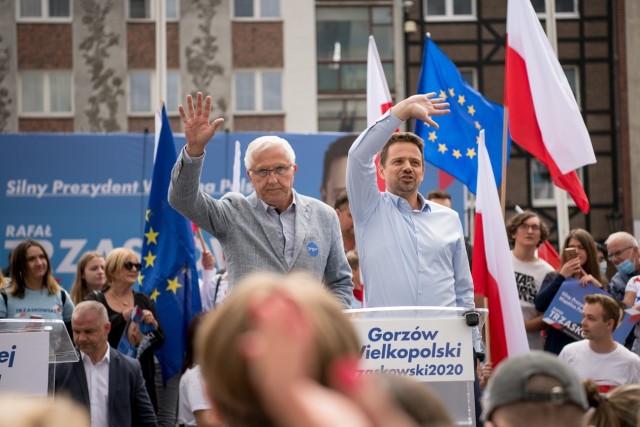 Wadim Tyszkiewicz i Rafał Trzaskowski podczas wizyty w Gorzowie