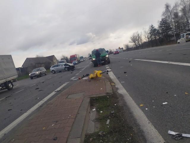 Wypadek na S1 w Wojkowicach