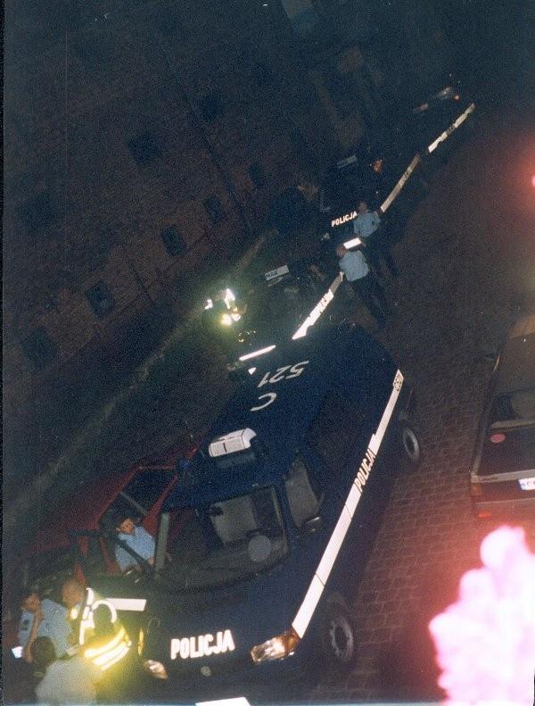 Z takim rozmachem grudziądzka policja  interweniowała na... imprezie urodzinowej w  kamienicy przy ul. Kościuszki.