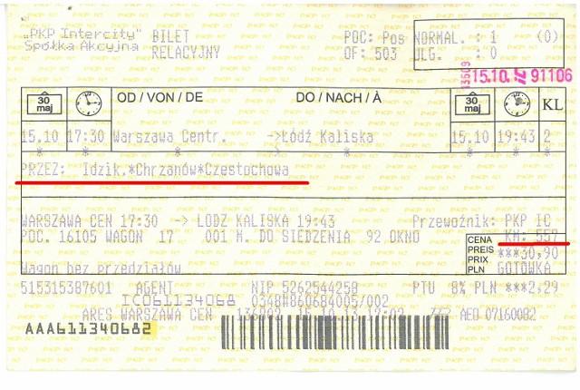 Takiego biletu nie widział wcześniej nawet konduktor z wieloletnim stażem w zawodzie