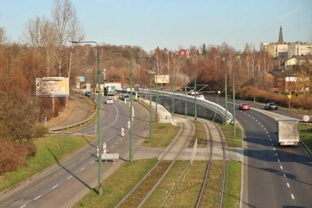 Remontowany odcinek ulicy 3 Maja w Sosnowcu