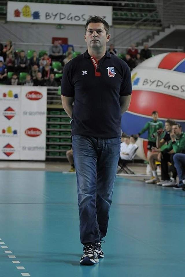 Piotr Makowski, trener Delecty Bydgoszcz.