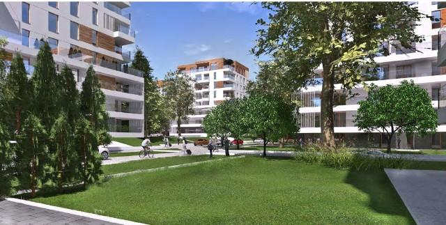 Wizualizacje z wniosku złożonego przez spółkę Green Park Silesia