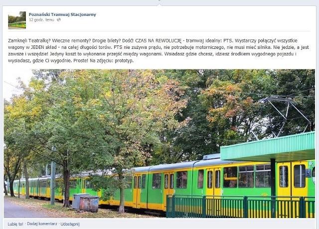 Prototyp Poznańskiego Tramwaju Stacjonarnego