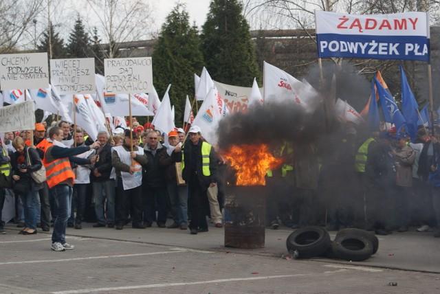 ArcelorMittal Poland pikieta pracowników