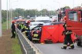 Wrocław: Tragiczny wypadek na obwodnicy śródmiejskiej. Zginął 19-letni Ukrainiec (ZDJĘCIA)