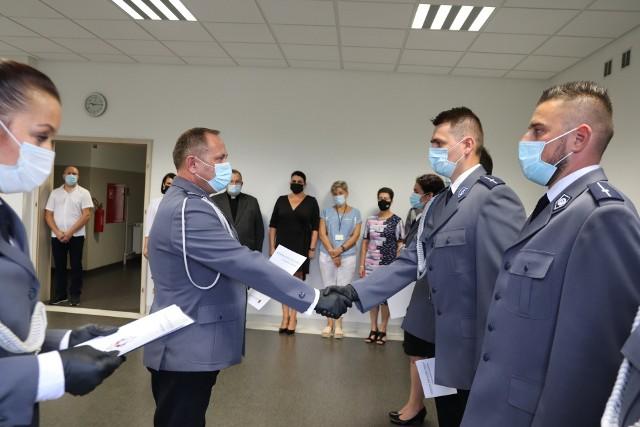 W Komendzie Powiatowej Policji w Aleksandrowie Kujawskim mundurowi obchodzili swoje święto