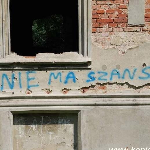 Prorocze graffiti na pałacu w Kopicach.