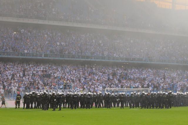 Obrazki w 2018 roku, gdy mistrzostwo w Poznaniu świętowała Legia