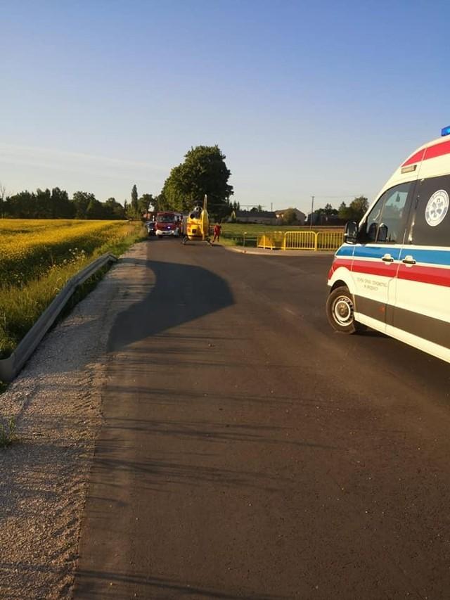 W Kawkach doszło do zderzenia motocykla z osobówką