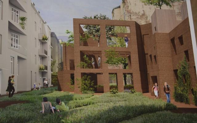 Koncepcja przebudowy trzech kamienic na Mariackiej autorstwa  pracowni OVO Grąbczewscy Architekci