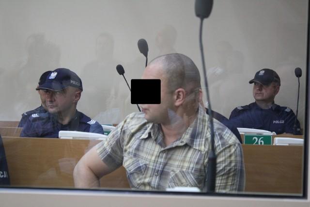 Damian J. ps. Murzyn podczas procesu w sprawie śmierci Człowieka