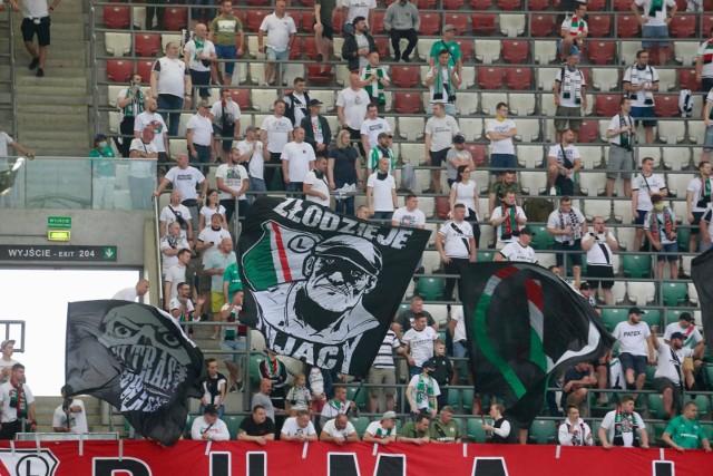 Kibice Legii Warszawa podczas meczu ze Śląskiem Wrocław 21.06. 2020