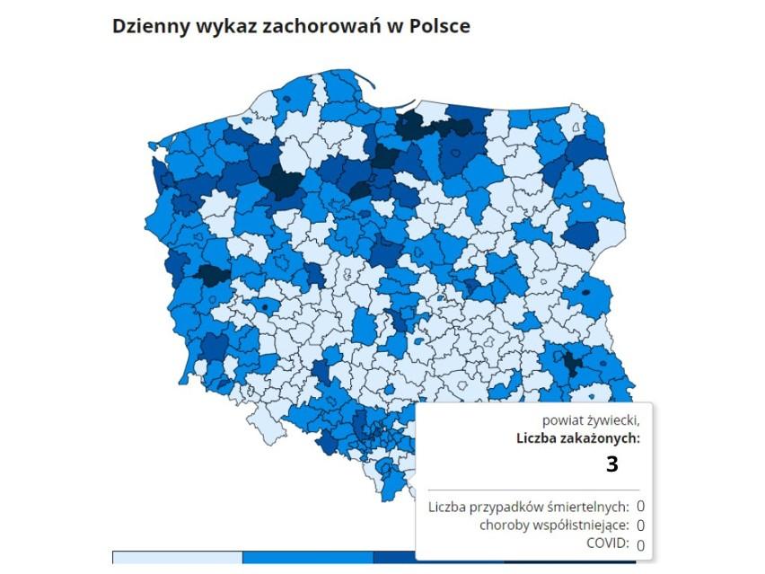 Koronawirus w woj. śląskim - najnowsze dane. Ministerstwo...