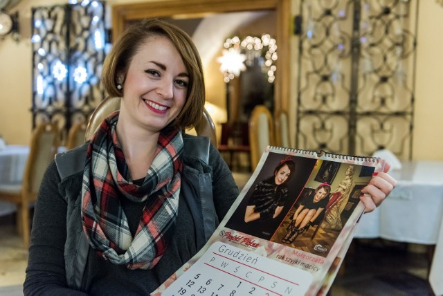 Małgorzata Puzyniak  jest na ostatniej karcie kalendarza.