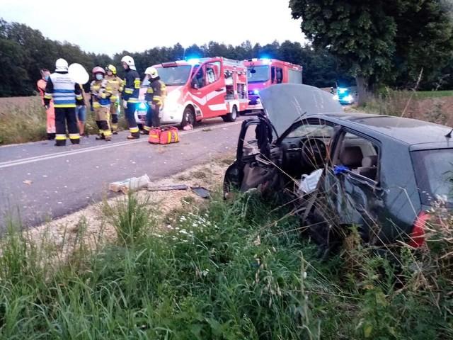 Wypadek na drodze między Biskupicami i Kościeliskami