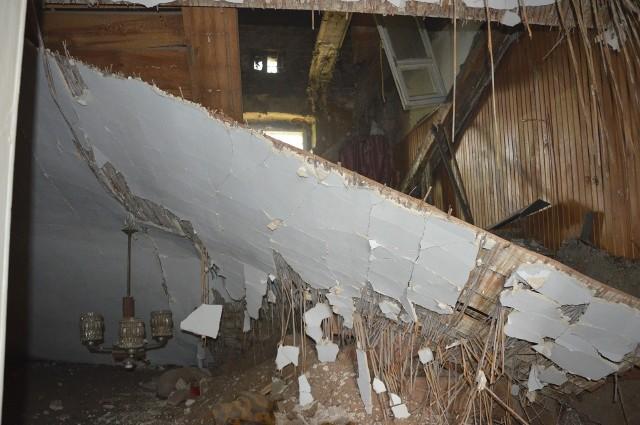 Zawalił się strop w kamienicy przy Belzackiej w Piotrkowie