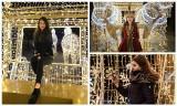 Białostoczanki wieczorową porą na tle świątecznych iluminacji (zdjęcia)
