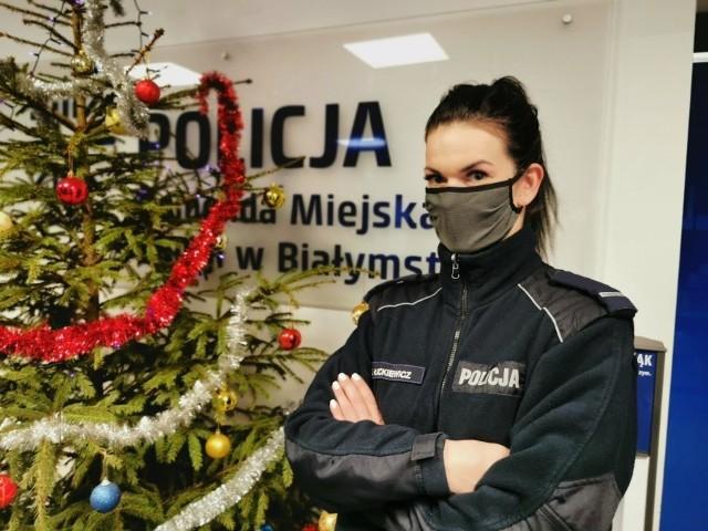 """""""Policjant zawsze na służbie"""". Te stwierdzenie potwierdza postawa st. post. Eweliny Łuckiewicz"""