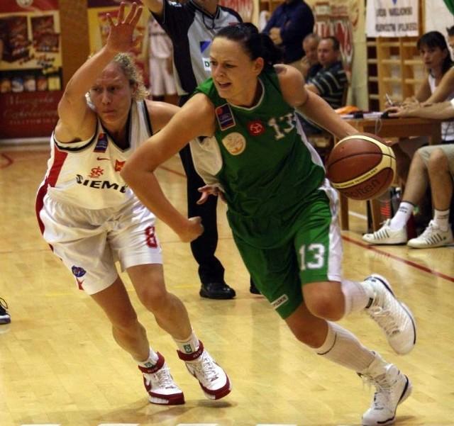 Justyna Daniel potrenowała z młodszymi koleżankami.