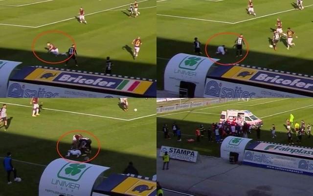 Patryk Dziczek stracił przytomność w czasie meczu Ascoli - Salernitana