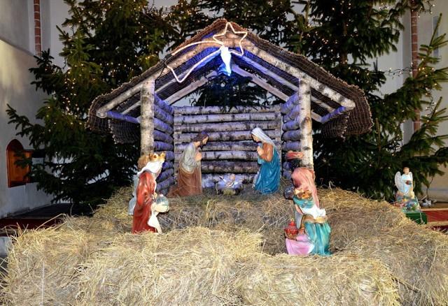 Szopka bożonarodzeniowa w Kościele Mariackim w Sławnie