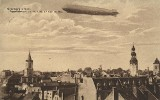 Wielki sterowiec dryfował nad głowami mieszkańców Grünberga. Tak wyglądało miasto z lotu ptaka blisko 100 lat temu. Rozpoznajesz te miejsca?