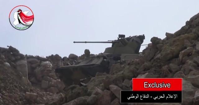 Rosyjski samochód pancerny na froncie w Syrii