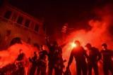 Feta Lechii Gdańsk na Długim Targu. Nocne świętowanie historycznego sukcesu [galeria, wideo]