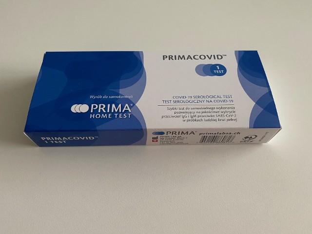 Test na koronawirusa z Biedronki.