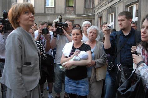 Prezydent Hanna Zdanowska odwiedziła pogorzelców
