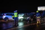Zakopianka. Nocny wypadek czterech samochodów. Cztery osoby trafiły do szpitala