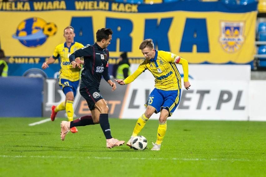 Mateusz Młyński w meczu z Pogonią Szczecin